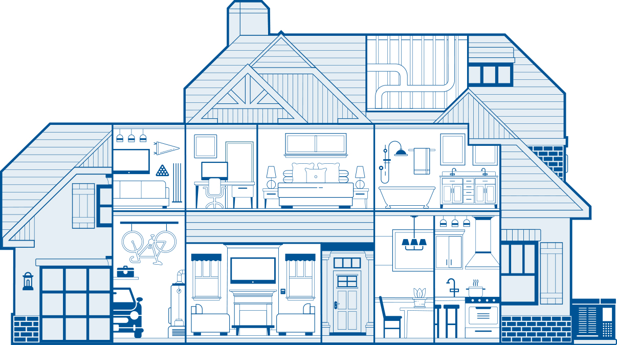 Energy Savings, Better Health, More Comfort, Peace Of Mind Home Cutaway